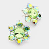 Green Flower Stud Earrings | 89168