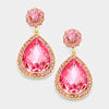 Pink Crystal Teardrop Earrings | 335603