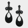 Little Girls Black Dangle Earrings | 312415