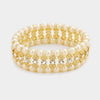 Cream Pearl and Crystal Stretch Bracelet | 352737