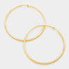 Textured Gold Hoops | 3"