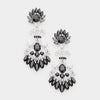 Black Crystal Chandelier Earrings | 414588