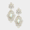 Elegant AB Crystal Pageant Chandelier Earrings | 250624