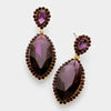 Little Girls Purple Marquise Earrings | 322713