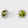 Olive Green Stud Earrings 0.5"