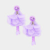 Lavender Fun Fashion Flower Dangle Earrings | 372253