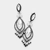 Victorian Crystal and Black Double Oval Pageant Earrings | 413485