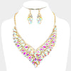 AB Crystal Cluster Vine Statement Evening & Pageant Necklace | 369163