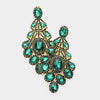 Oversized Emerald Crystal Statement Earrings | 428181