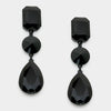 Black Multi Shape Drop Earrings | 297982