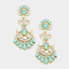 Mint Crystal Chandelier Earrings | 280785
