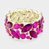 Fuchsia Crystal Vine Stretch Pageant Bracelet | 375281