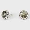 Black Diamond Stud Earrings 0.5"