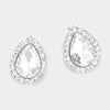 Crystal Rhinestone Teardrop Stud Earrings | 326070