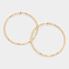 Clip On Gold Hoop Earrings | 2.3"