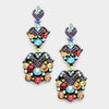 Multi Colored Crystal Dangle Earrings | Lauren | 343370