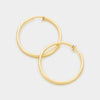 Smooth Gold Clip On Hoop Earrings | 1.25"