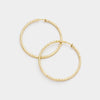 Hypoallergenic Textured Gold Metal Clip Hoop Earrings