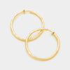 Clip On Gold Hoop Earrings | 1.75"