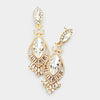 Victorian Crystal Double Oval Pageant Earrings on Gold | 413480