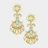 Yellow Crystal Chandelier Earrings | 342958