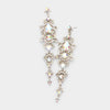 Long AB Crystal Pageant Head Shot Earrings | 308650