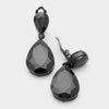 Little Girls Clip on Black Teardrop Earrings | 334667