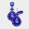 Royal Blue Chandelier Earrings | Clip On | 421549