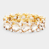 Teardrop Crystal Pageant Bracelet on Gold | 412411