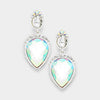 Small AB Crystal Dangle Earrings | Interview Earrings | 373800
