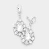 Crystal Teardrop Cluster Dangle Clip On Earrings | 391721