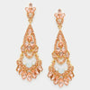 Peach Chandelier Earrings | 300428