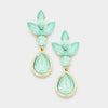 Mint Crystal Teardrop Pageant Earrings | 377255