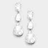 Crystal Triple Teardrop Earrings | 237740