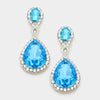 Aqua Double Teardrop Earrings | 331337