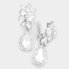 Crystal Teardrop Earrings | Clip On | 272301