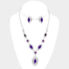 Purple Necklace with Clip On Earrings | 259614