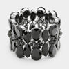 Black Teardrop Stretch Bracelet | 344870