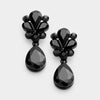 Little Girls Black Teardrop Earrings | 342281
