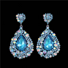 Aqua Chandelier Earrings | Pageant Chunky Earrings | H202-7