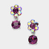 Little Girls Purple Dangle Earrings