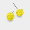 Little Girls Yellow Crystal Ball Stud Earrings | 103874