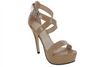 Nude Pageant Shoes | Thick Strap Pageant Heels | PS-V002 Nude