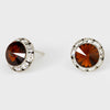 Topaz Stud Earrings 0.5"