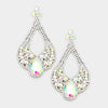 Large Chunky Cut Out AB Crystal Teardrop Earrings | Tammy Lee's| 368878