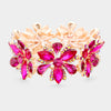 Fuchsia Crystal Flower Pageant Bracelet | 392835