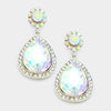 AB Crystal Teardrop Earrings | 335608