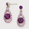 Purple Drop Earrings | Little Girls Earrings | 122546