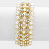 Bridal Bracelet | Crystal Cream Pearl Stretch Bracelet | 307171