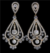 Crystal Chandelier Earrings on Gold | H202-13 | G-Clear